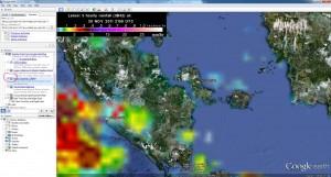 Curah Hujan dari Peta Satelite